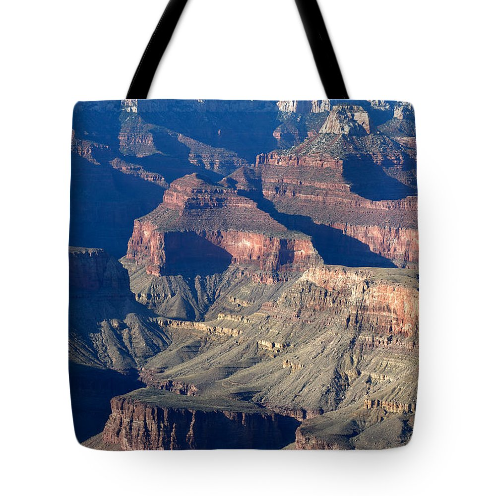 Grand Canyon Tote Bag featuring the photograph Grand Canyon Shadows by Julie Niemela