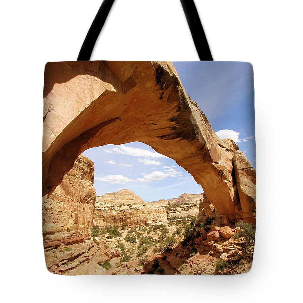 Hickman Bridge Tote Bag featuring the photograph Hickman Bridge by Adam Jewell