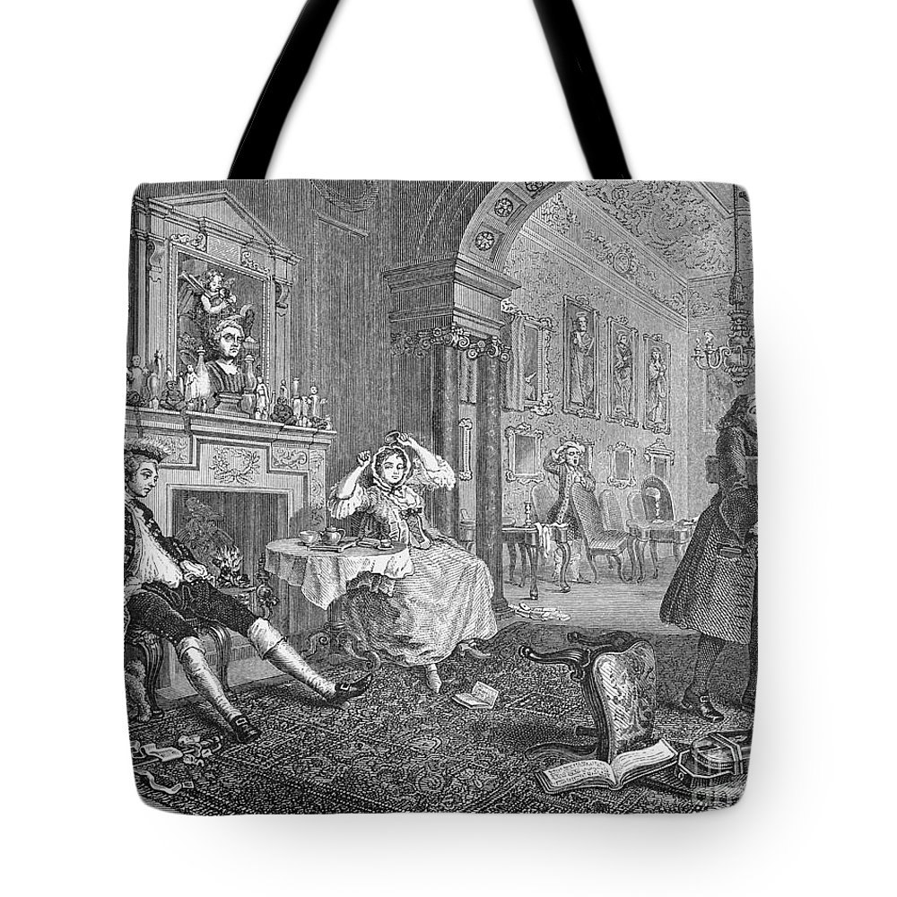 18th Century Tote Bag featuring the photograph Hogarth: Marriage by Granger