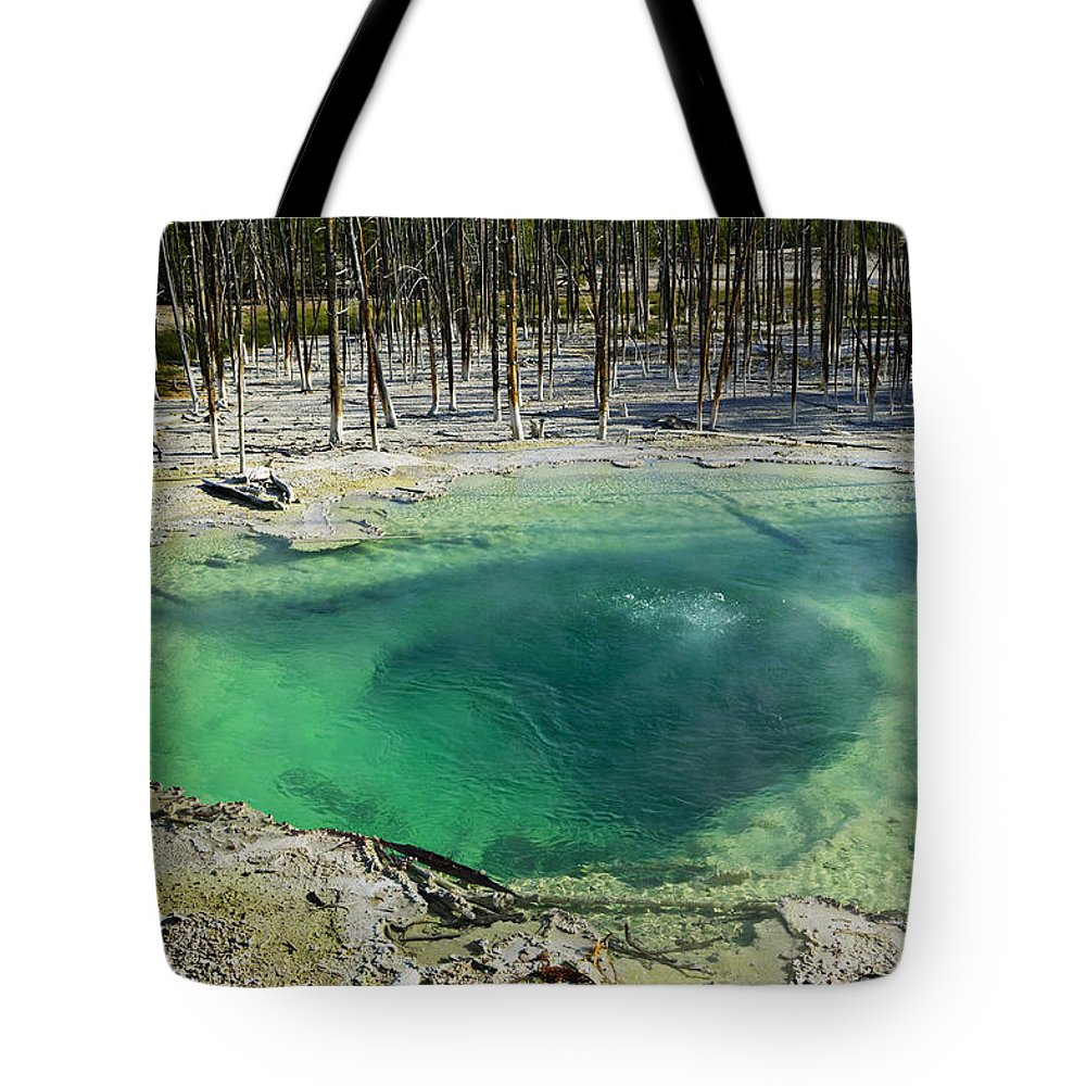 Hot Springs Yellowstone Midway Hot Springs Yellowstone Hot Tote Bag featuring the photograph Hot Springs Yellowstone National Park by Garry Gay