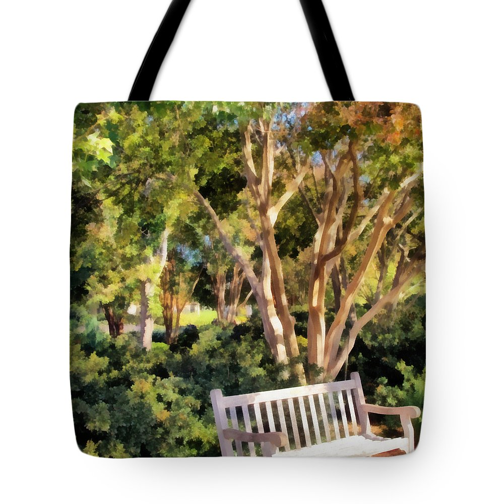 Lonely Tote Bag featuring the photograph I Waited For You Today by Angelina Vick