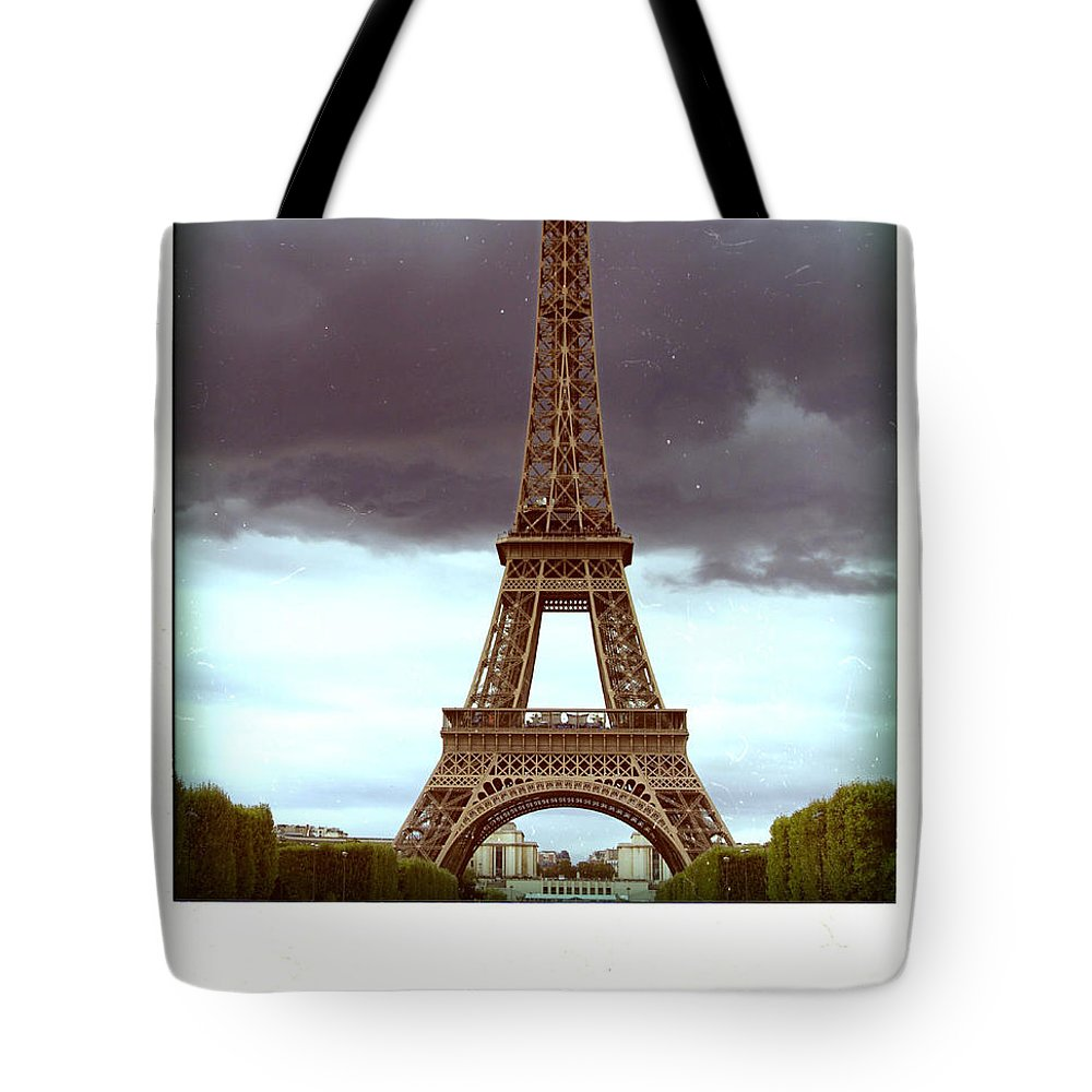 Attraction Tote Bag featuring the photograph Illustration Of Eiffel Tower by Bernard Jaubert