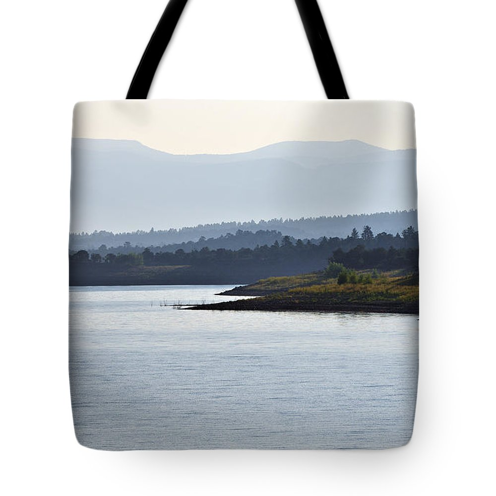 Vicki Pelham Tote Bag featuring the photograph In The Mist Of Morning by Vicki Pelham