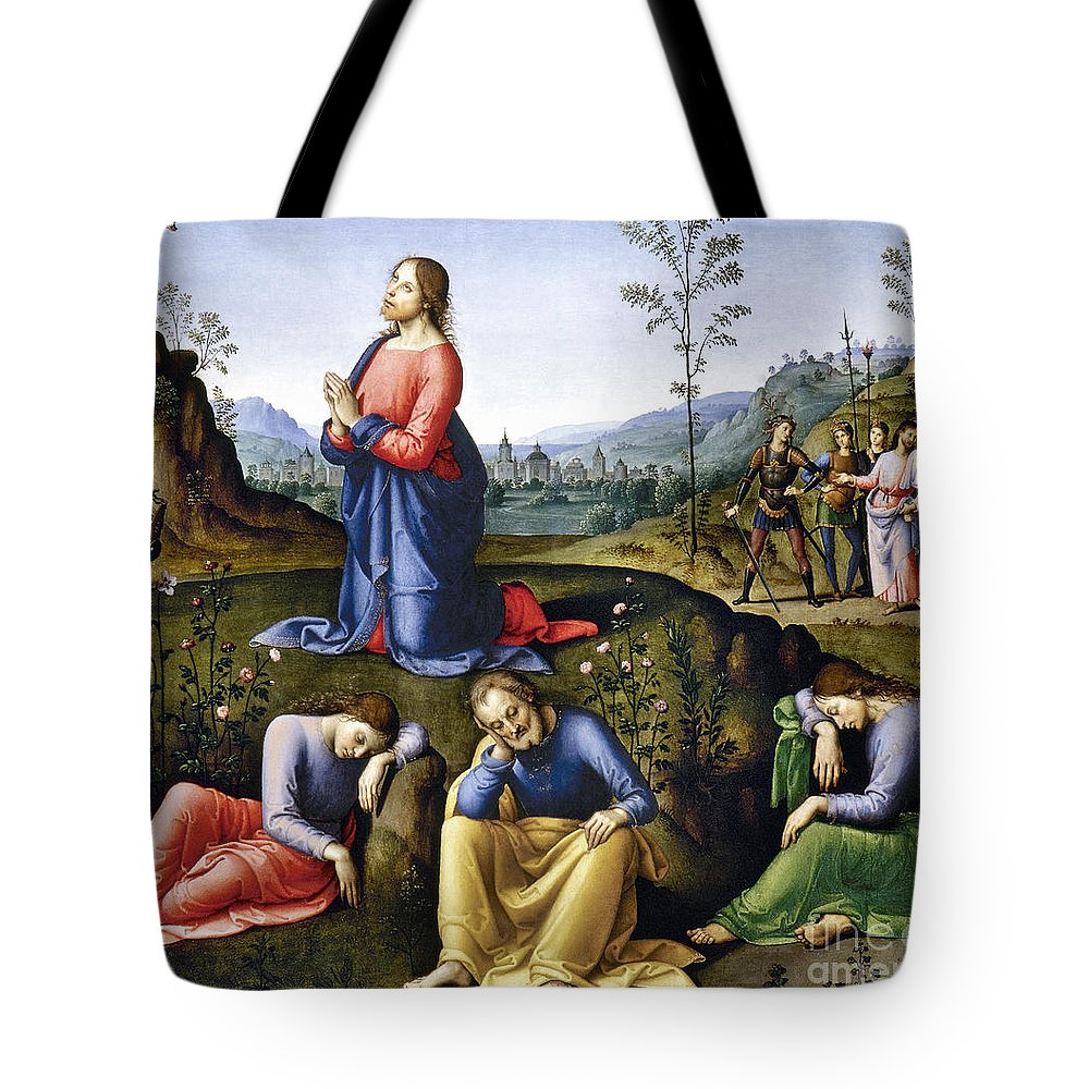 Agony In The Garden Tote Bag featuring the photograph Jesus: Agony In The Garden by Granger