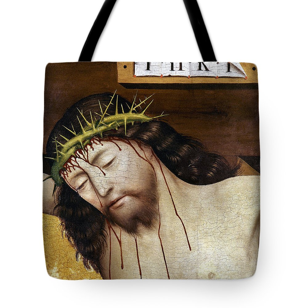 Blood Tote Bag featuring the photograph Jesus: Crucifixion by Granger