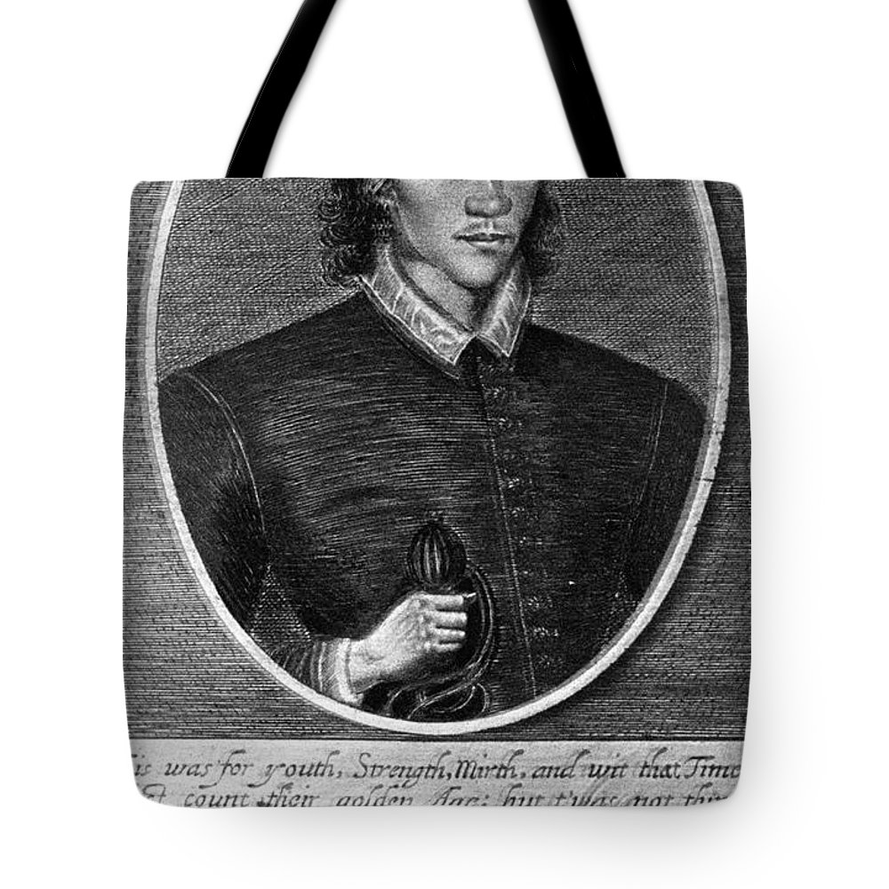 1591 Tote Bag featuring the photograph John Donne (1573-1631) by Granger