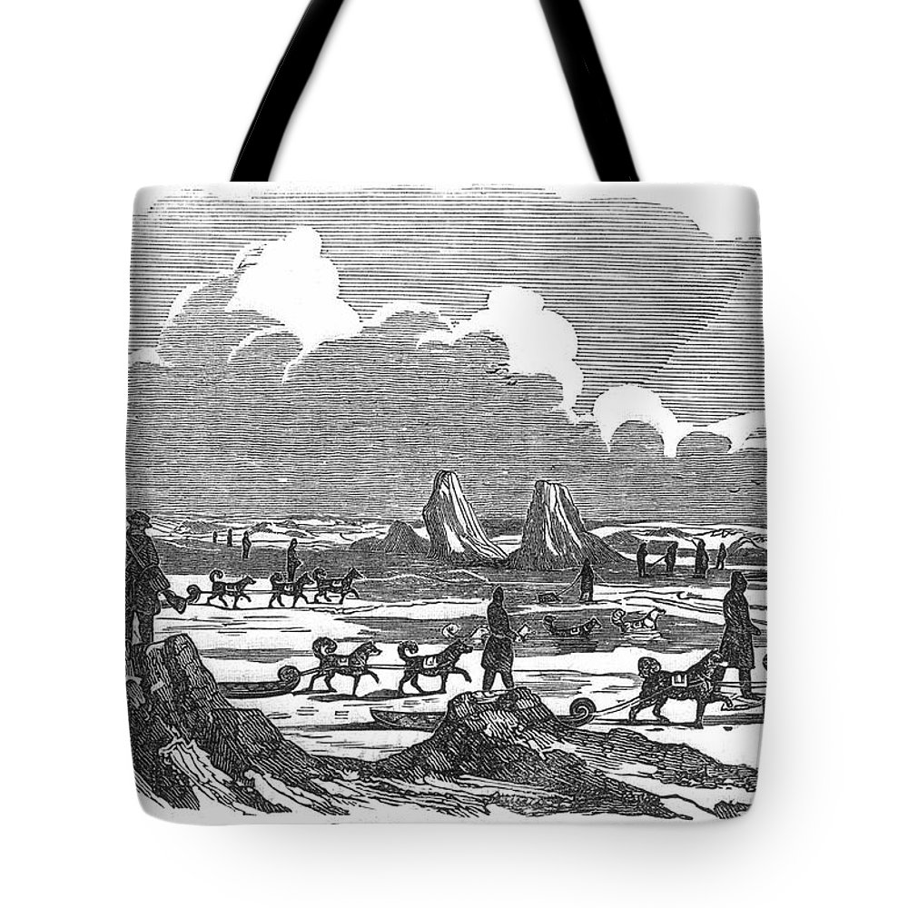 1820 Tote Bag featuring the photograph John Franklin Expedition by Granger