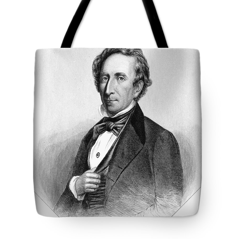 19th Century Tote Bag featuring the photograph John Tyler (1790-1862) by Granger