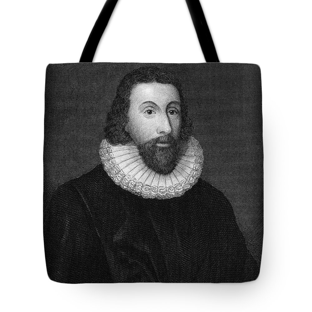 16th Century Tote Bag featuring the photograph John Winthrop (1588-1649) by Granger