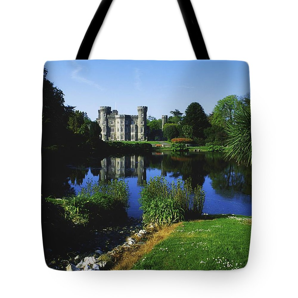 Co Wexford Tote Bag featuring the photograph Johnstown Castle, Co Wexford, Ireland by The Irish Image Collection