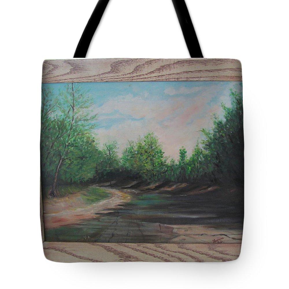 Tote Bag featuring the painting Kayuga Creek by Tina M Wenger