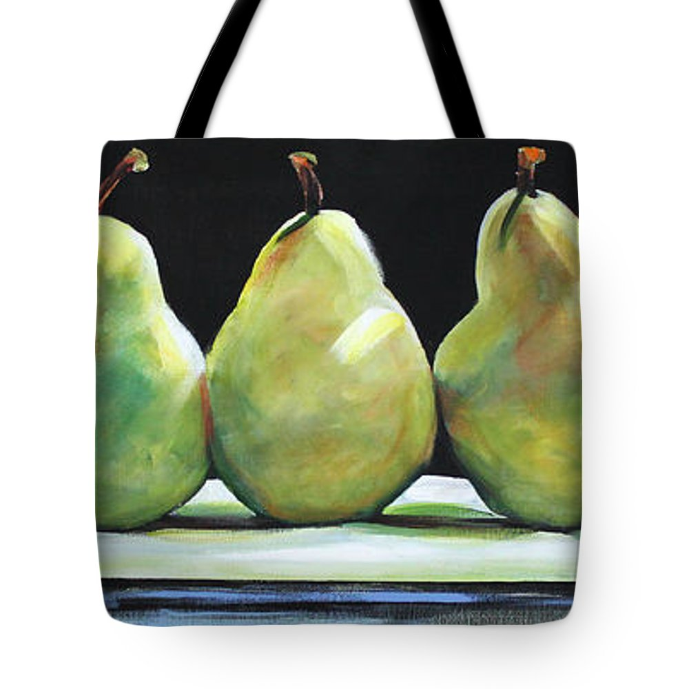 Pears Tote Bag featuring the painting Kitchen Pears by Toni Grote