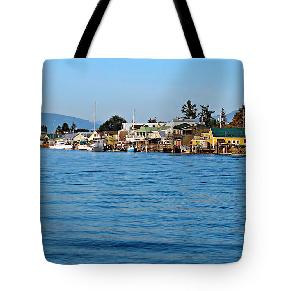 Architecture Tote Bag featuring the photograph La Conner by Paul Fell