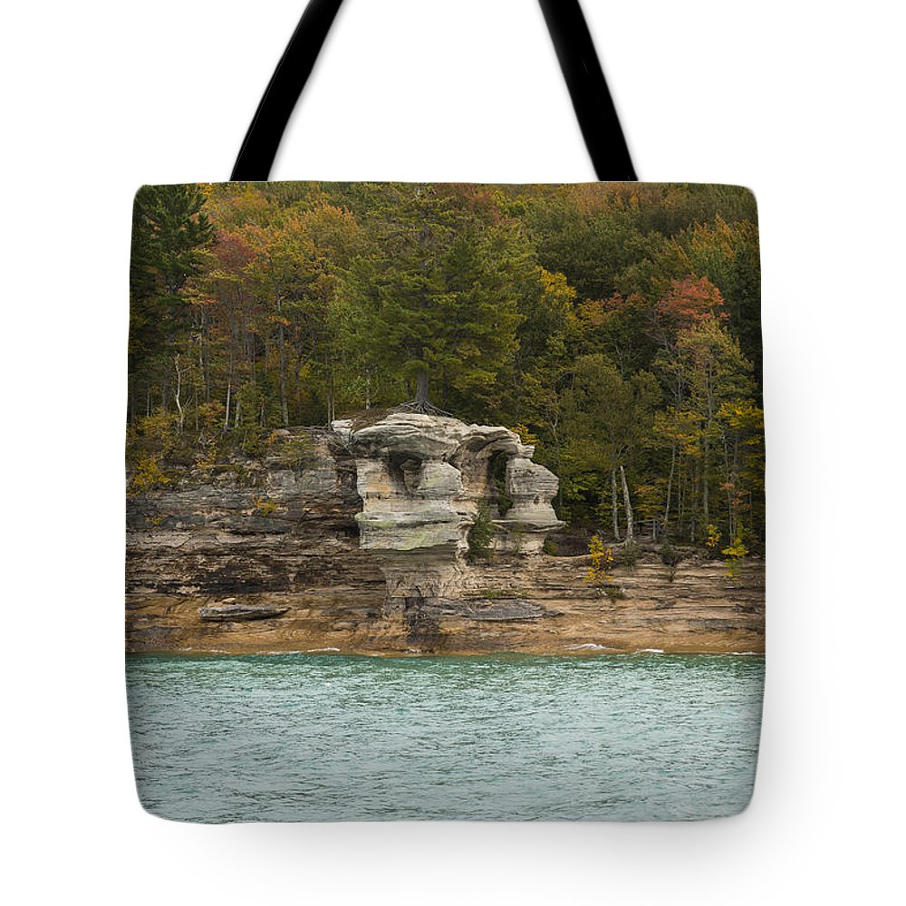 Great Tote Bag featuring the photograph Lake Superior Pictured Rocks 49 by John Brueske