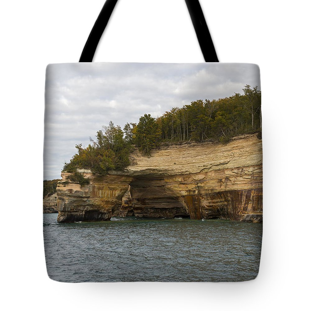 Great Tote Bag featuring the photograph Lake Superior Pictured Rocks 50 by John Brueske