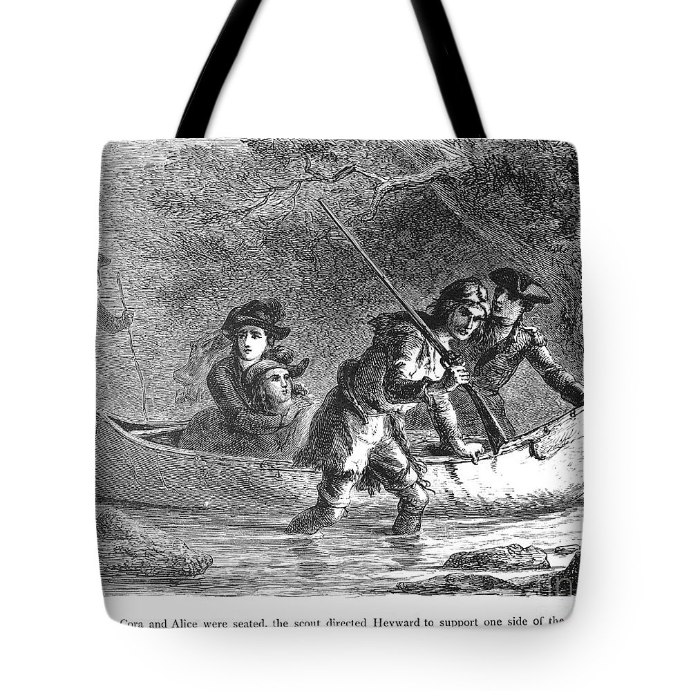 1872 Tote Bag featuring the photograph Last Of The Mohicans, 1872 by Granger