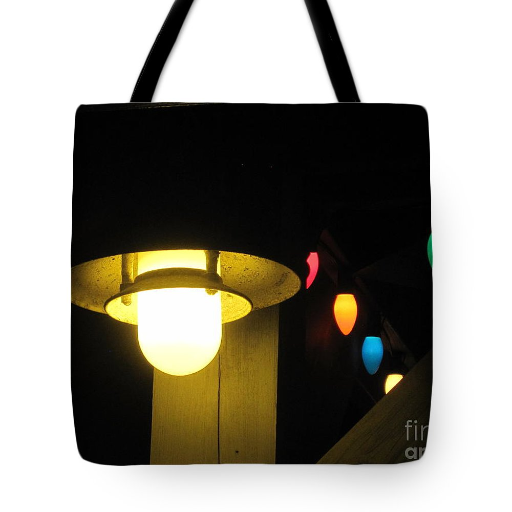 Light Tote Bag featuring the photograph Light And Lights by Jan Prewett