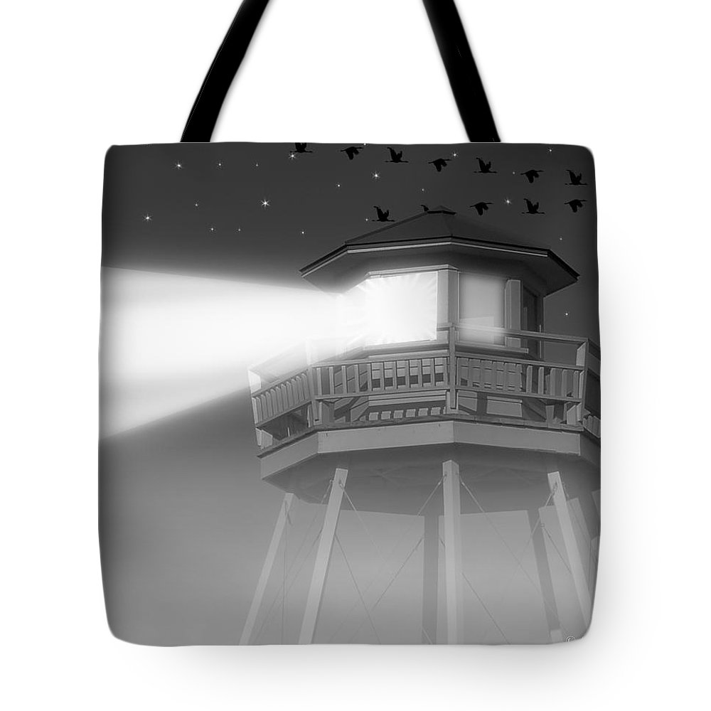 2d Tote Bag featuring the photograph Lighthouse Dreaming by Brian Wallace