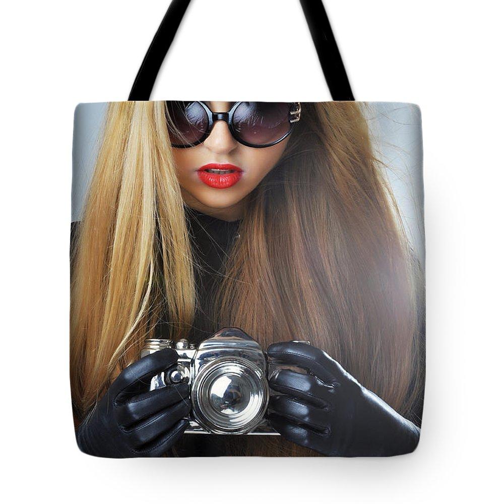 Yhun Suarez Tote Bag featuring the photograph Liuda10 by Yhun Suarez