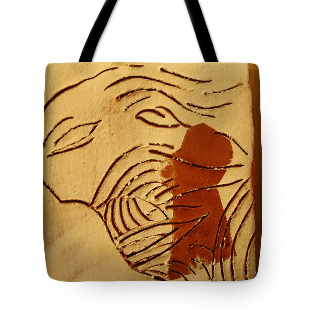 Jesus Tote Bag featuring the ceramic art Lost - Tile by Gloria Ssali
