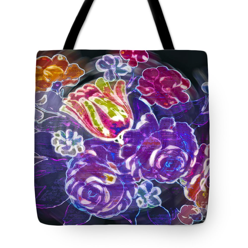 Flower Tote Bag featuring the photograph Lost Treasures by Gwyn Newcombe