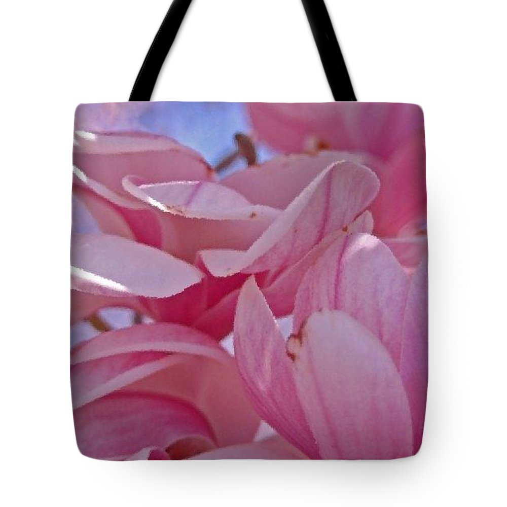 Magnolia Tote Bag featuring the photograph Magnolia Bloom by Beverly Webster