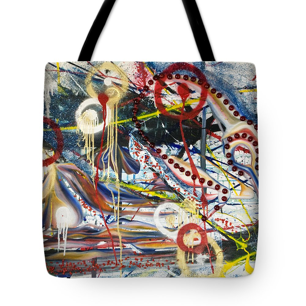 Metronomes Tote Bag featuring the painting Metronomes by Sheridan Furrer