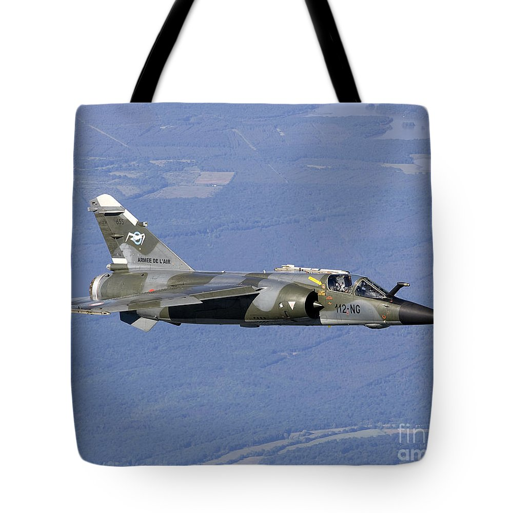 Evreux Tote Bag featuring the photograph Mirage F1cr Of The French Air Force by Gert Kromhout