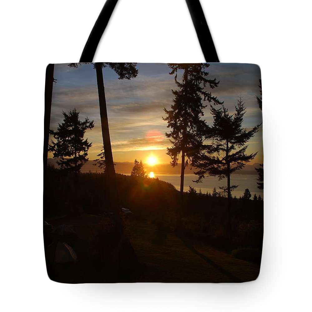 Morning Tote Bag featuring the photograph Morning Sky by Michael Merry