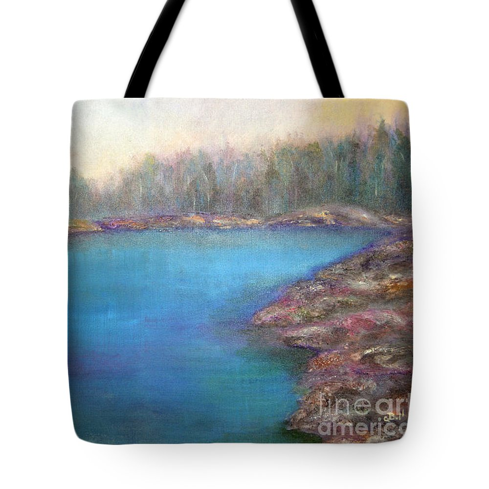 Muskoka Tote Bag featuring the painting Muskoka Shore by Claire Bull