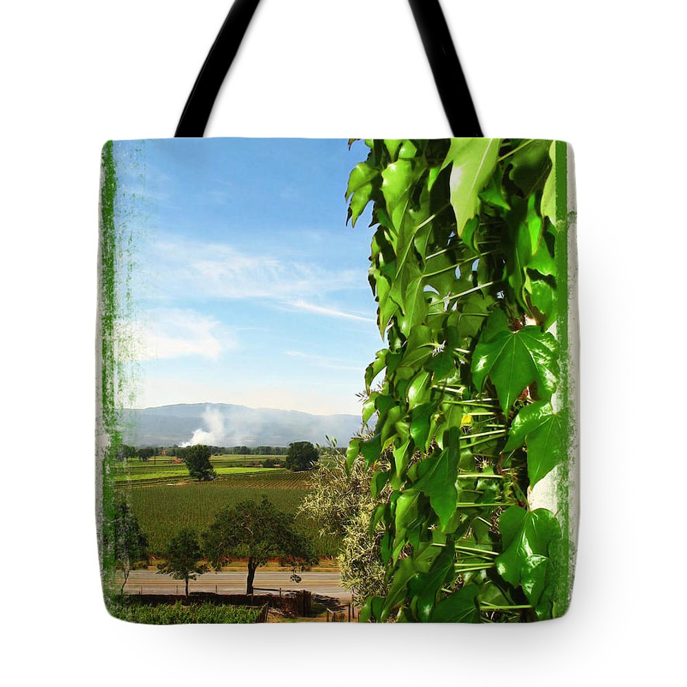 Napa Tote Bag featuring the photograph Napa Looking Out by Joan Minchak