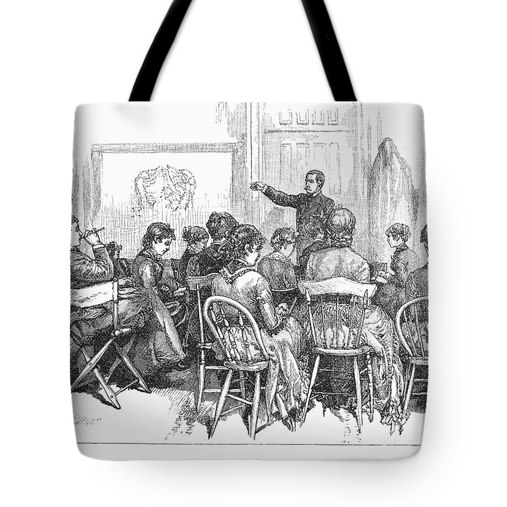 1882 Tote Bag featuring the photograph New York: Medical College by Granger