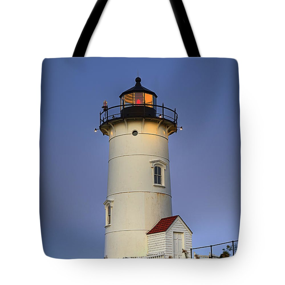 Cape Cod Tote Bag featuring the photograph Nobska Point Lighthouse by John Greim