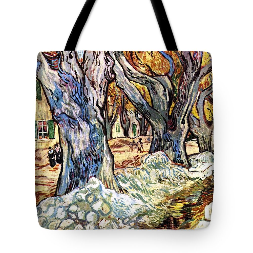 Impressionism Tote Bag featuring the painting Olive Garden by Sumit Mehndiratta