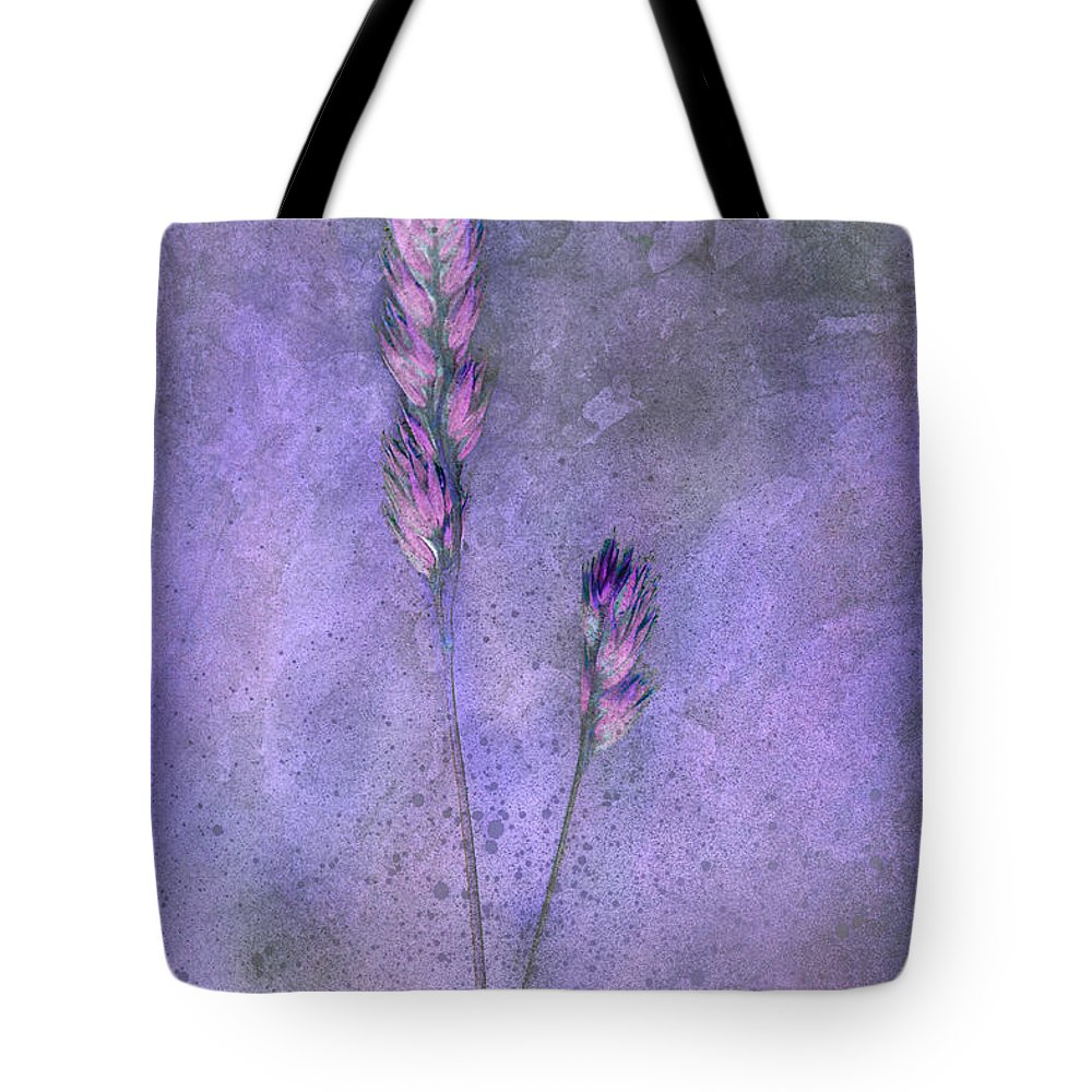 Grass Tote Bag featuring the digital art Orchard Grass by Ron Jones