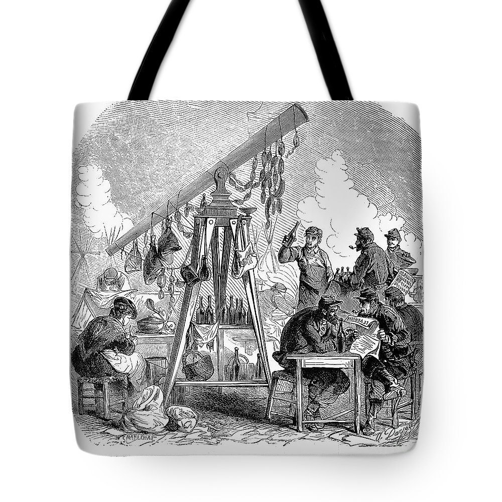1871 Tote Bag featuring the photograph Paris Commune, 1871 by Granger