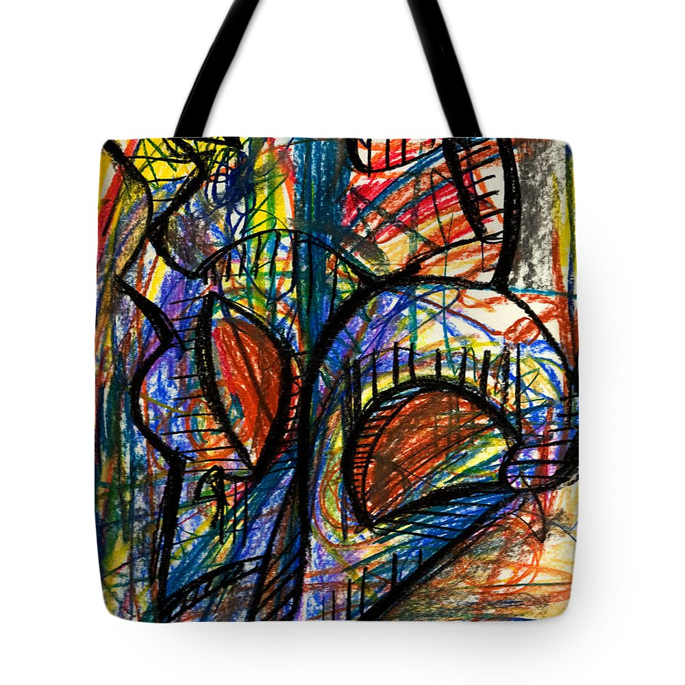 Picasso Tote Bag featuring the pastel Picasso by Sheridan Furrer