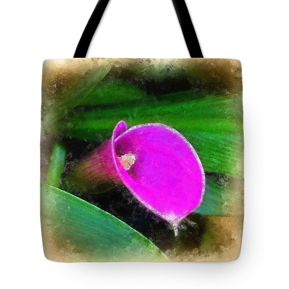 Pink Tote Bag featuring the photograph Pink Calla by Judi Bagwell