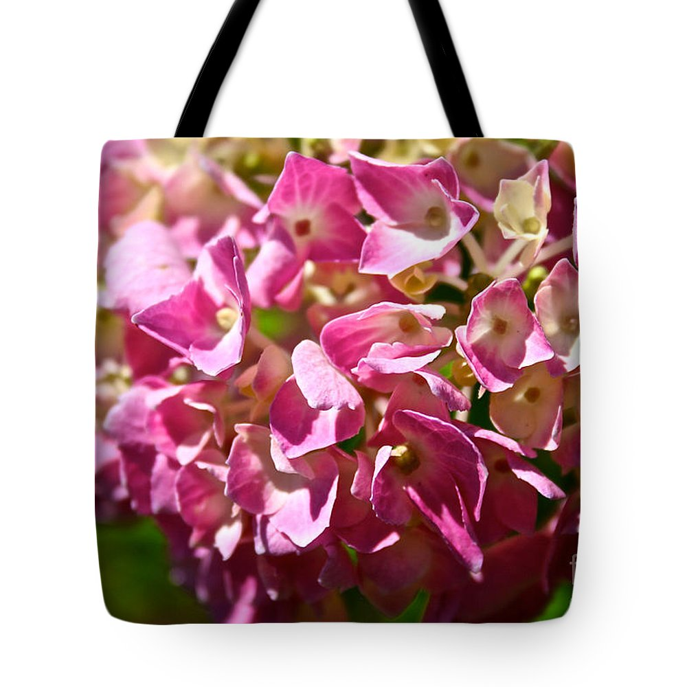 Outdoors Tote Bag featuring the photograph Pink Party by Susan Herber