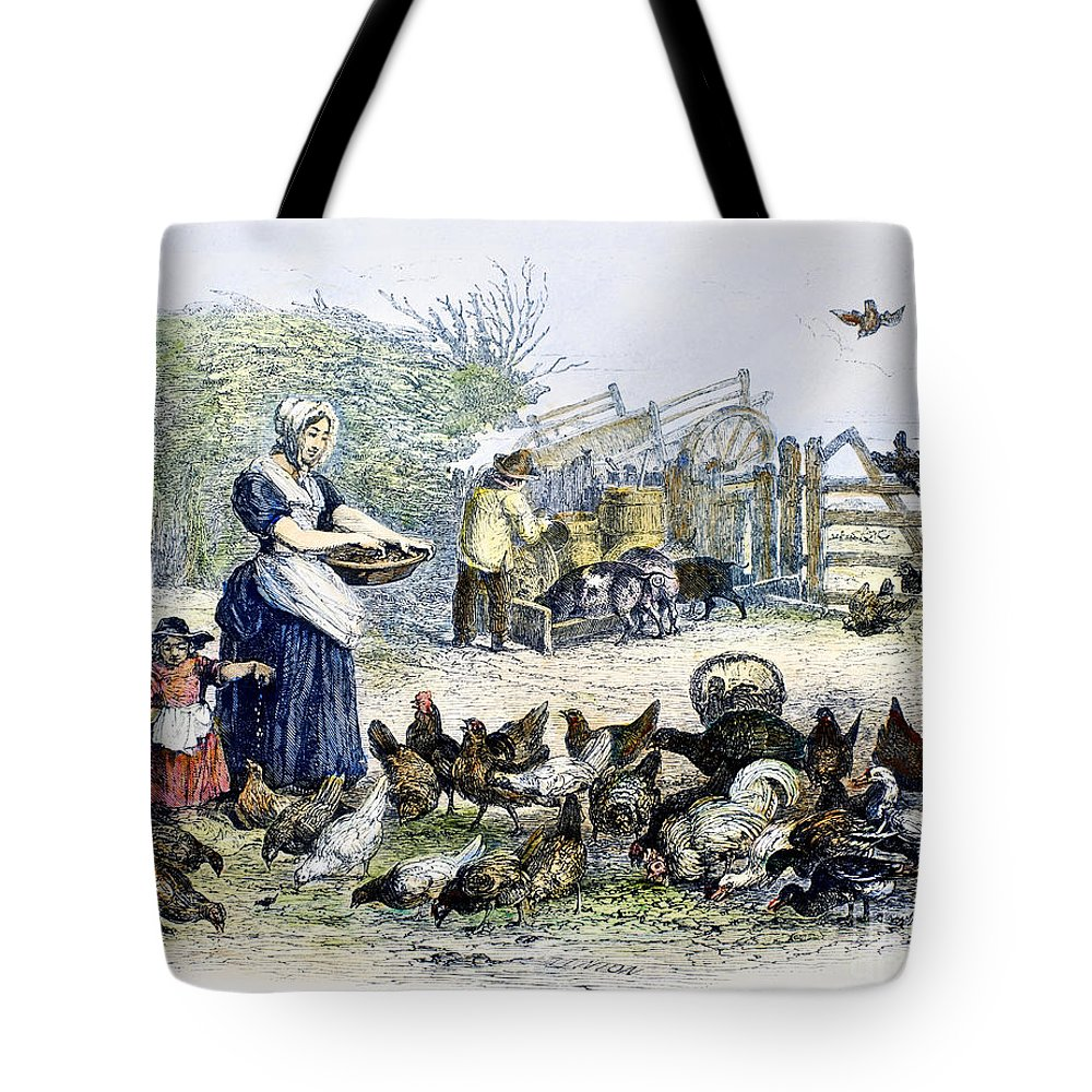 1847 Tote Bag featuring the photograph Poultry Yard, 1847 by Granger