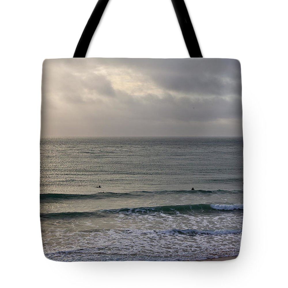 Praa Sands Cornwall Tote Bag featuring the photograph Praa Sands by Brian Roscorla