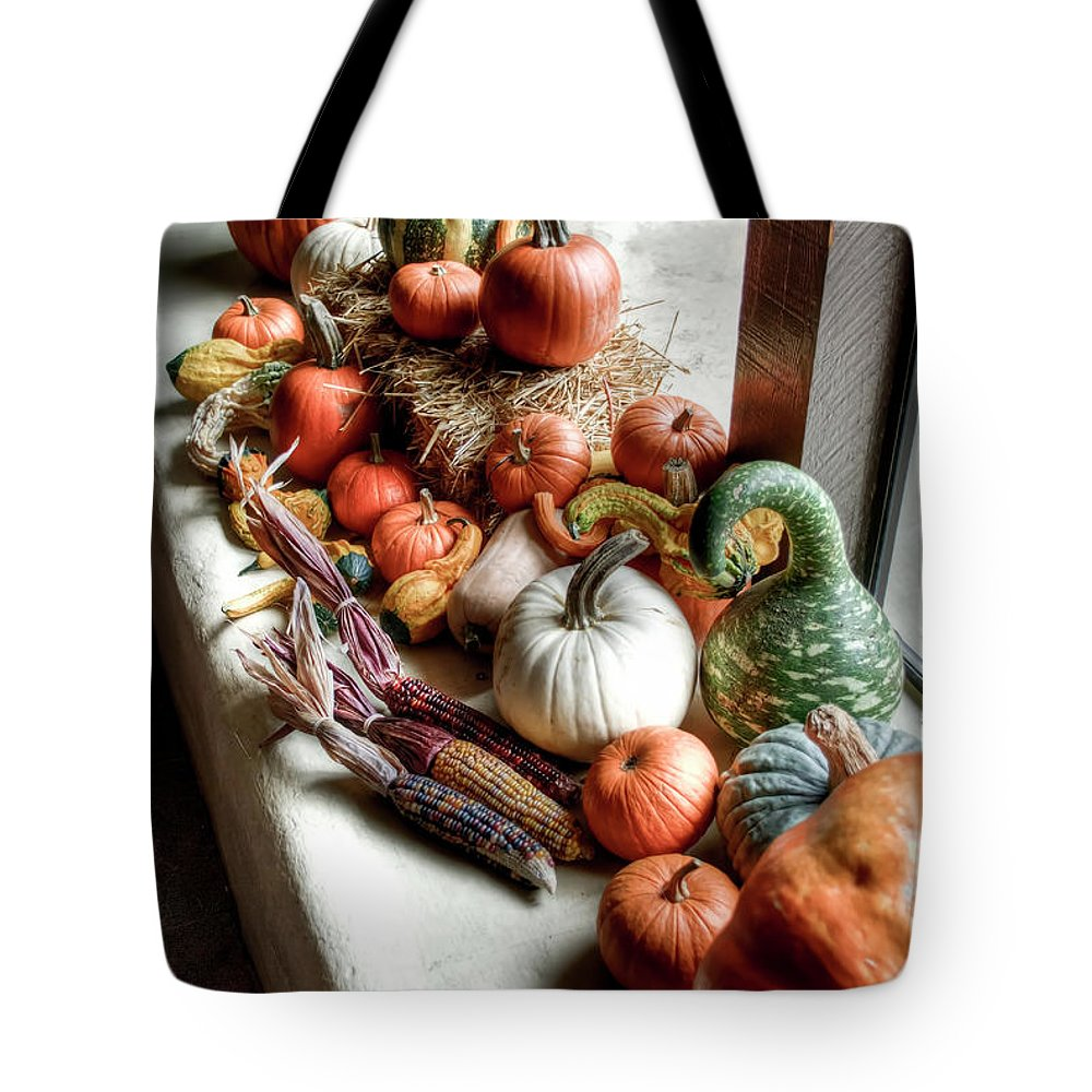 Fall Tote Bag featuring the photograph Pumpkins by Diego Re