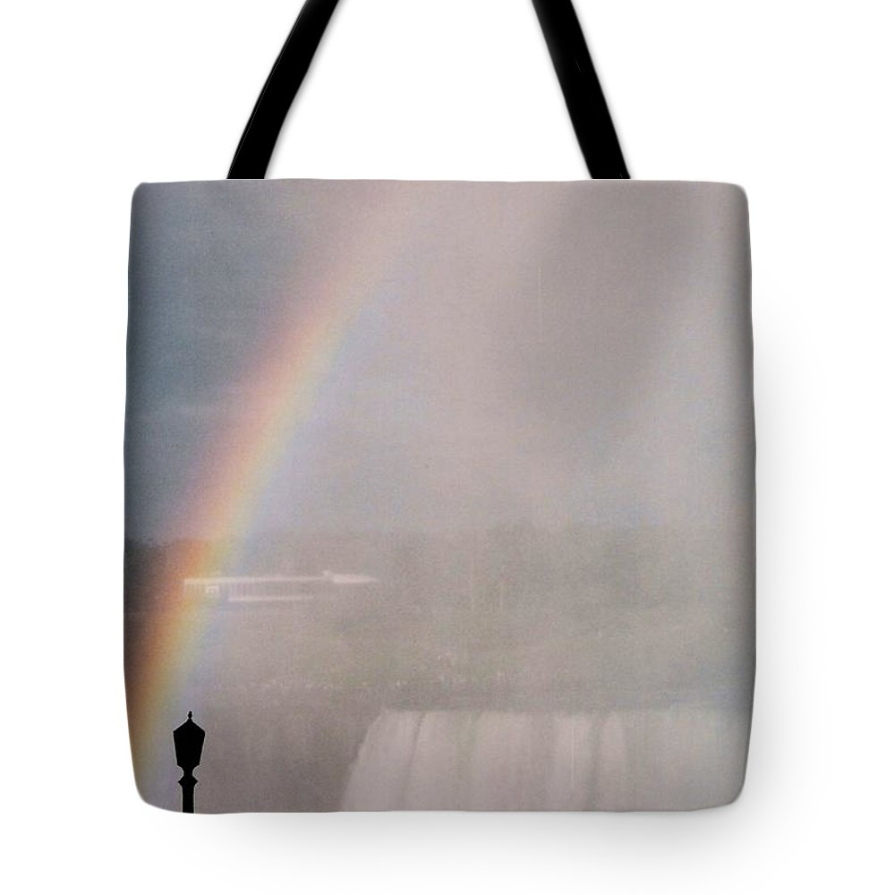 Waterfall Tote Bag featuring the photograph Rainbow Falls by Pharris Art