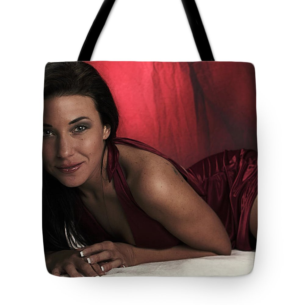 Model Tote Bag featuring the photograph Red by Rick Berk