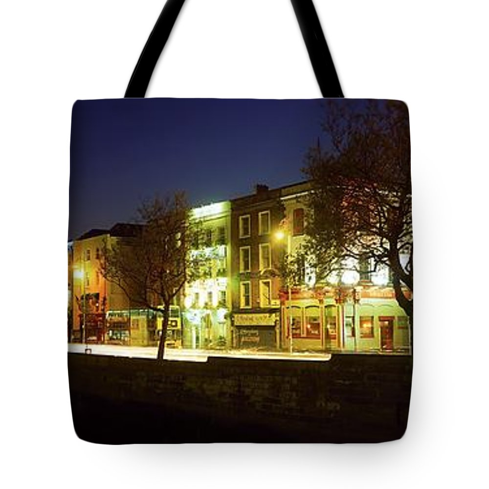 Architecture Tote Bag featuring the photograph River Liffey, Dublin, Co Dublin, Ireland by The Irish Image Collection