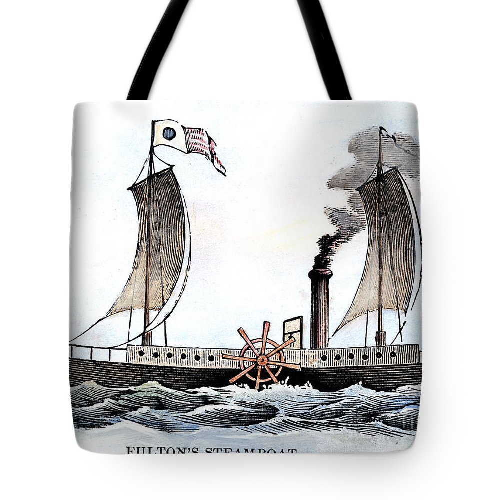 1807 Tote Bag featuring the photograph Robert Fultons Clermont by Granger