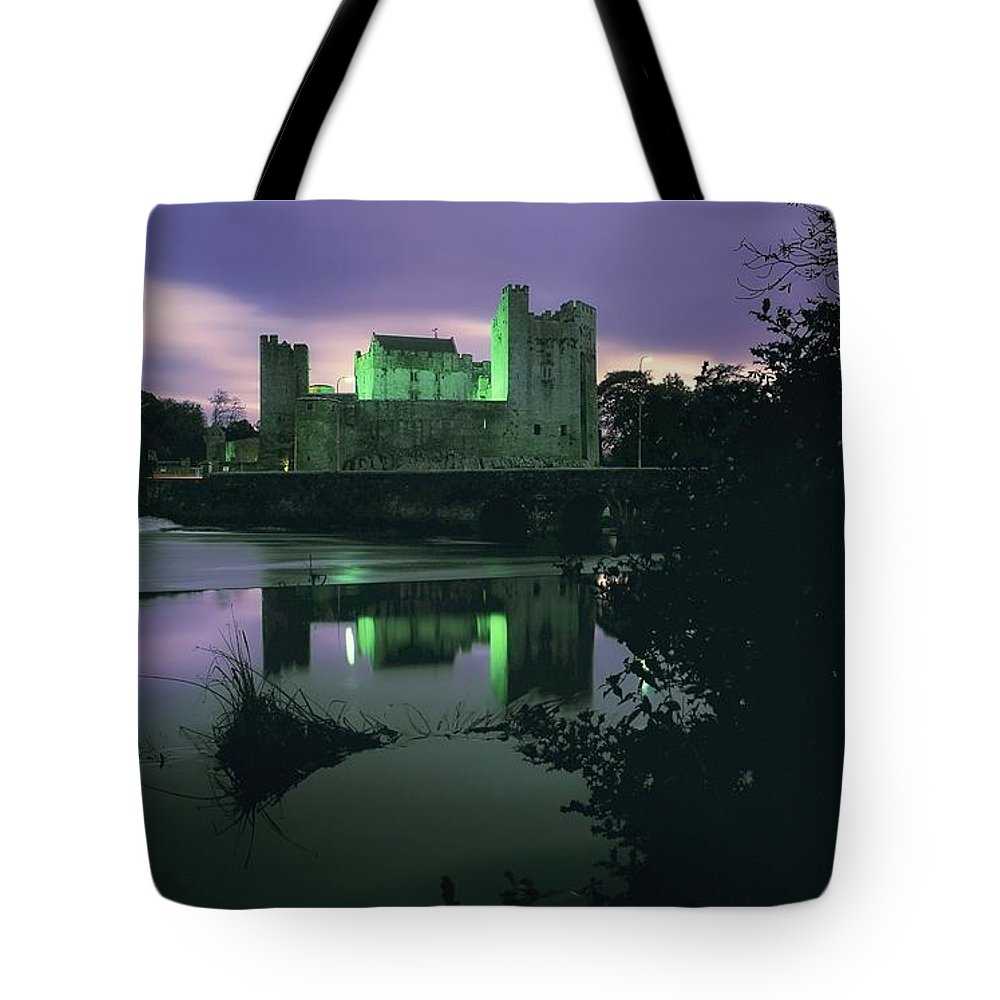 Archaeology Tote Bag featuring the photograph Ross Castle, Killarney, Co Kerry by The Irish Image Collection