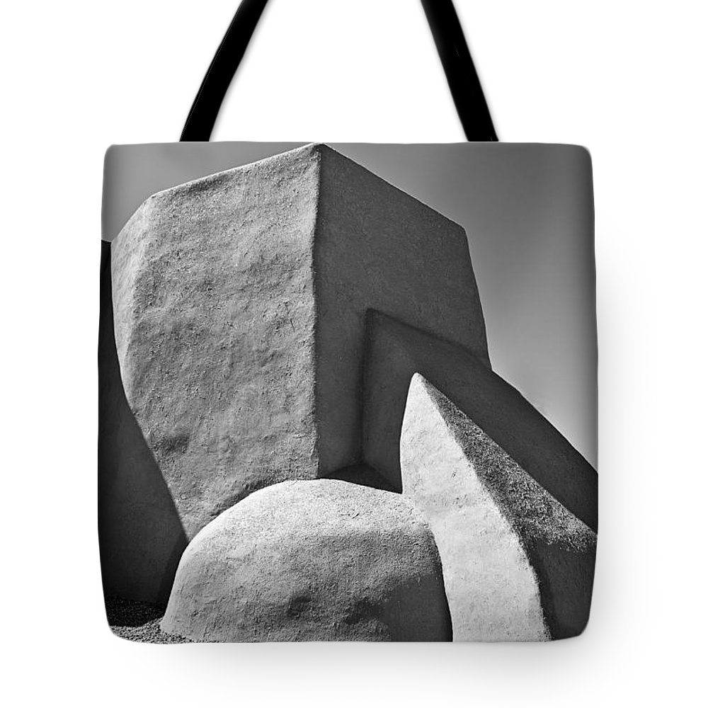 American Landmarks Tote Bag featuring the photograph Saint Francisco De Asis Mission Church by Melany Sarafis