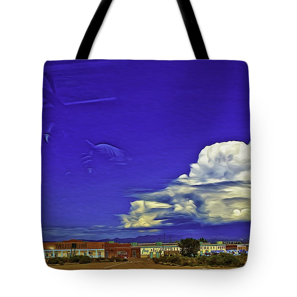 Santa Fe Tote Bag featuring the photograph Santa Fe Drive - New Mexico by Madeline Ellis