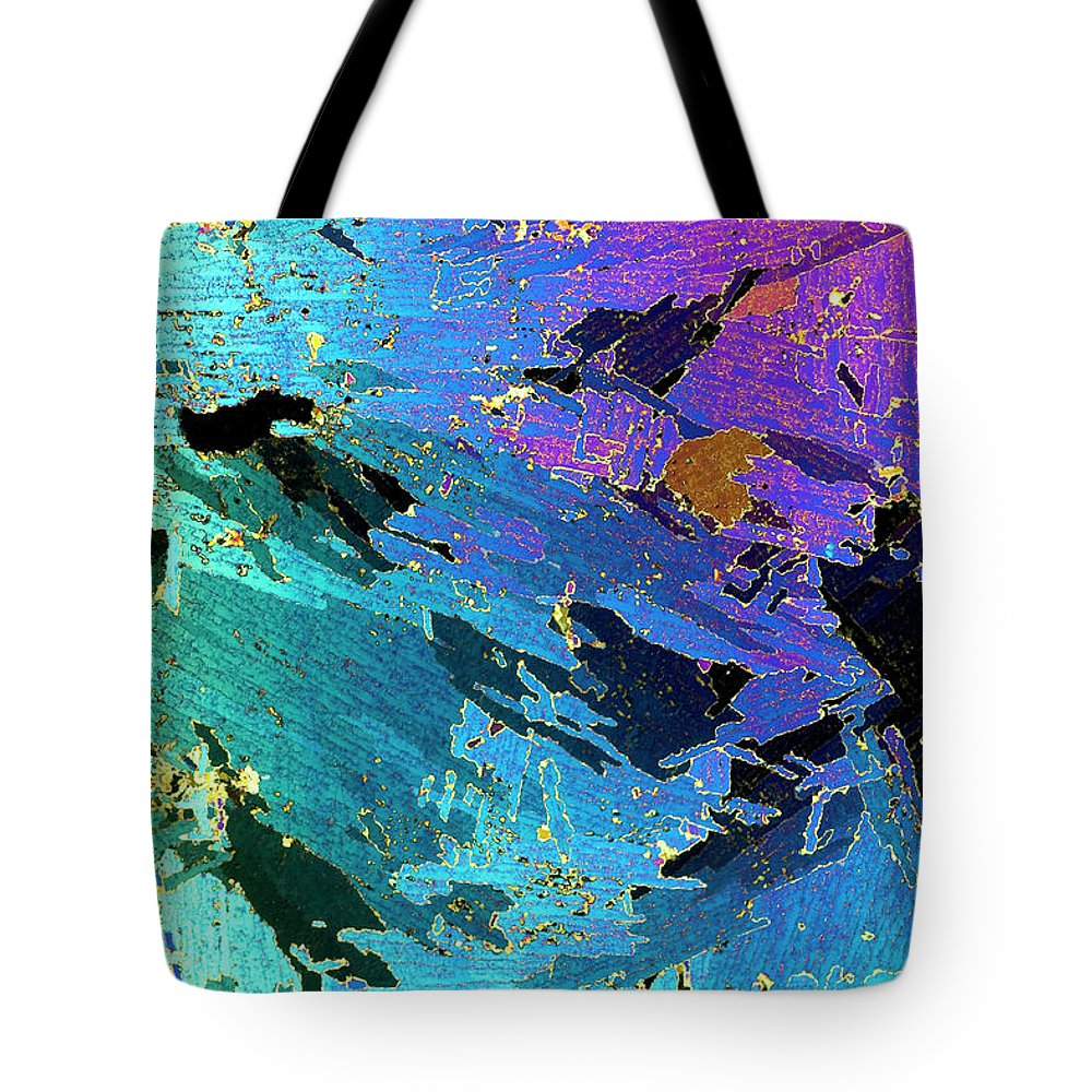 Mp Tote Bag featuring the photograph Sea Ice Core One Millimeter Thick by Ingo Arndt